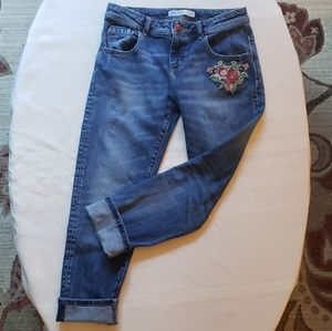 ZARA BASIC Z1975 Rose Embellished Jeans